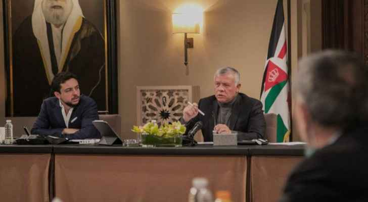 His Majesty holds meetings to discuss Jordanian affairs and developments