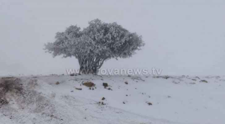 Polar front affects Jordan, accompanied by rain, snow