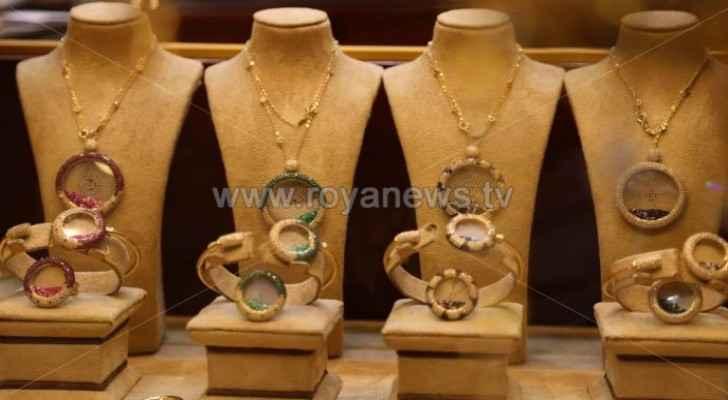 JJS announces gold prices in Jordan Wednesday