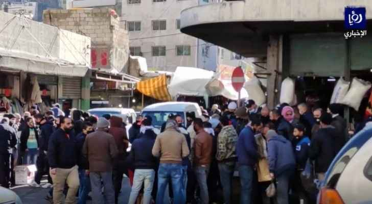 VIDEO: Once more, non-compliance to health measures seen in Downtown Amman