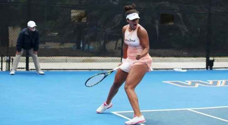 Egyptian tennis player Mayar Sherif competes in second round of Australian Open