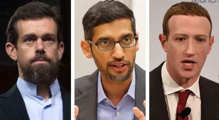 From left: Dorsey, Pichai, Zuckerberg. Source: HT Tech