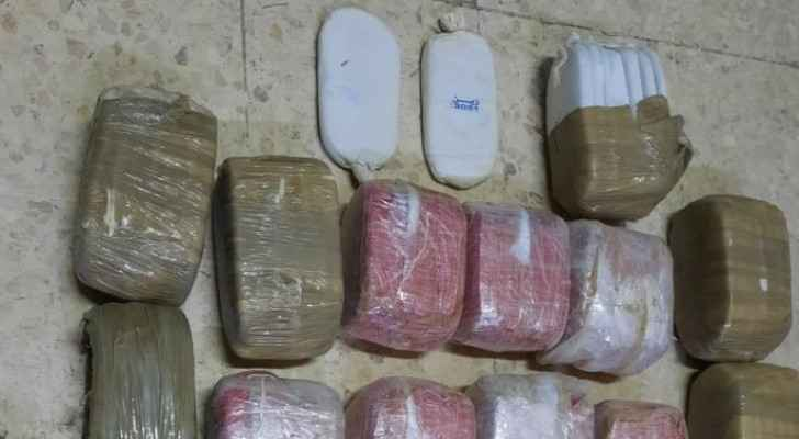 Anti-Narcotics Department seizes 279 hashish slabs, thousands of narcotic pills, firearm