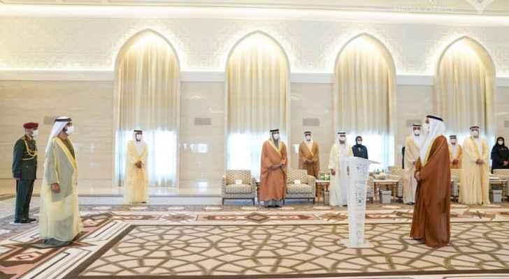 Al Khaja being sworn in as ambassador in the UAE. Source: Gulf Business