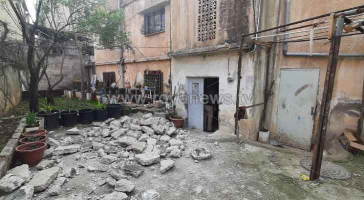 IMAGES: Residential building partially collapses in Amman