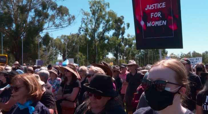 Australian women protest against sexual violence, inequality