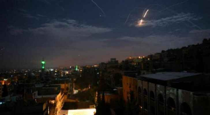 Syrian air defenses intercept Israeli Occupation missiles over Damascus
