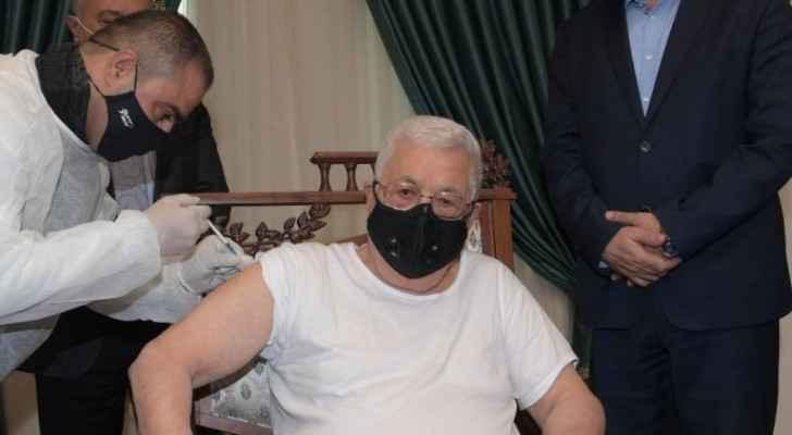 Palestinian President receives COVID-19 vaccine