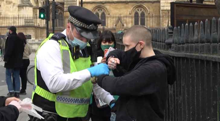 London police clash with protesters against new crime law