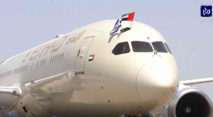 First commercial Etihad flight arrives in Tel Aviv from Abu Dhabi