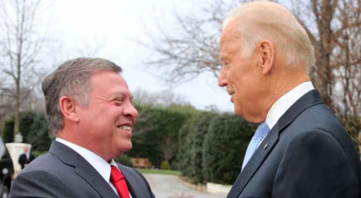 King Abdullah II receives phone call from US President Joe Biden