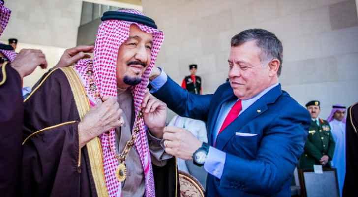 King Salman congratulates King Abdullah II on Jordan's centenary
