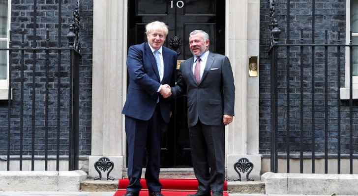 British PM affirms support for King Abdullah II, Jordan