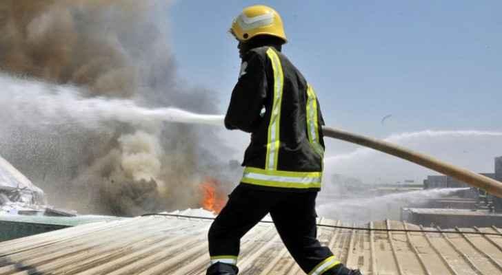 Hangar fire extinguished in Balqa