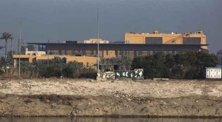 Warning sirens sounded at an American base at Baghdad International Airport
