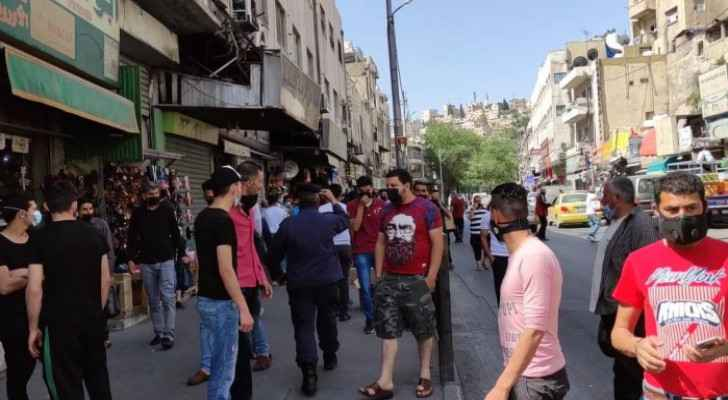 Security authorities conduct inspections in Downtown Amman