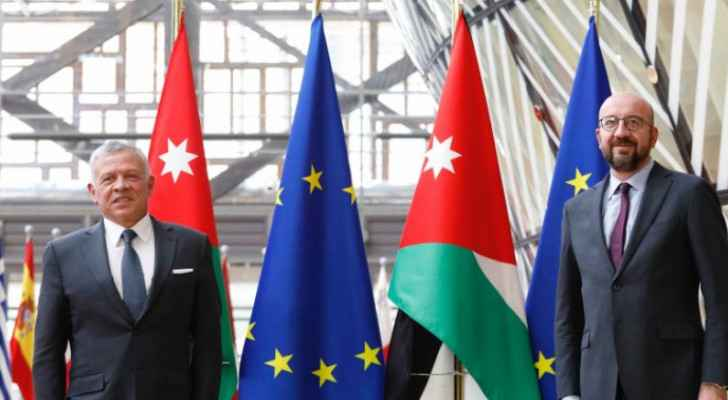 His Majesty meets with presidents of European Council, European Commission
