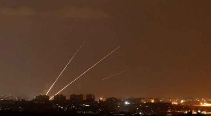 Palestinian resistance fires dozens of rockets towards Israeli Occupation