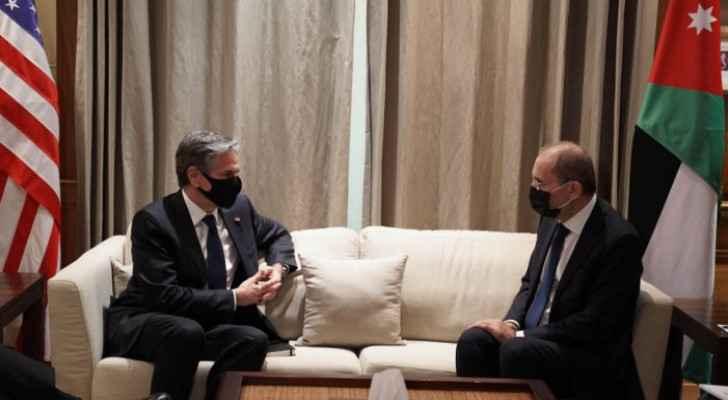 Jordan discusses Mideast peace, Palestinian developments with US