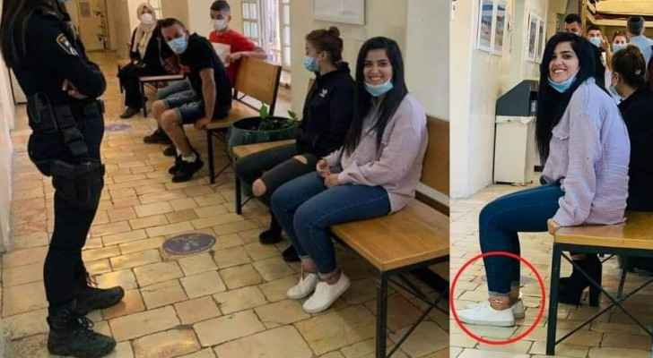 Palestinian journalist Zaina Halawani appears in court with ankle shackles