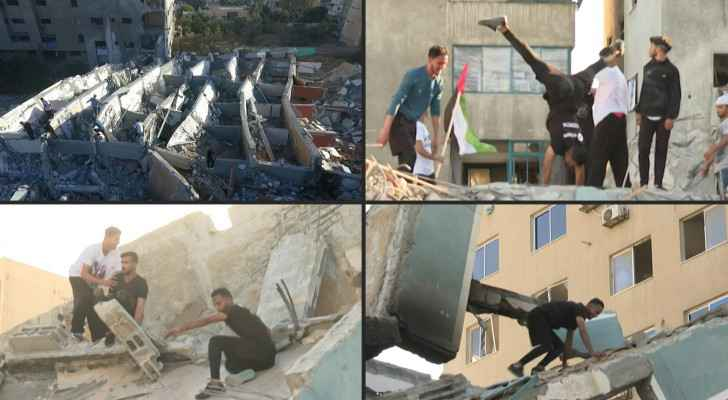 Gaza's youth transform bombsites into parkour playgrounds