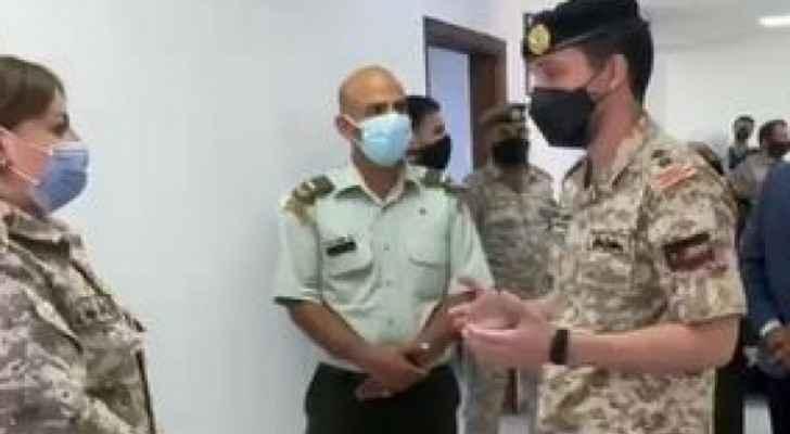 Crown Prince visits coronavirus vaccination site in Karak