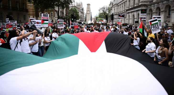 Hundreds rally for Palestine in London