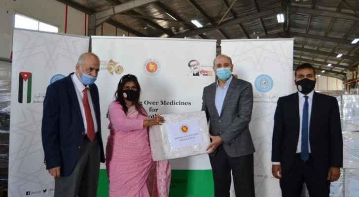 Bangladesh Embassy in Amman sends medical aid to Palestine on behalf of Bangladeshi government