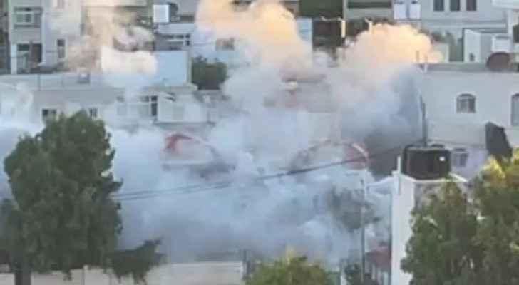 Israeli occupation army blows up prisoner Al-Shalabis house
