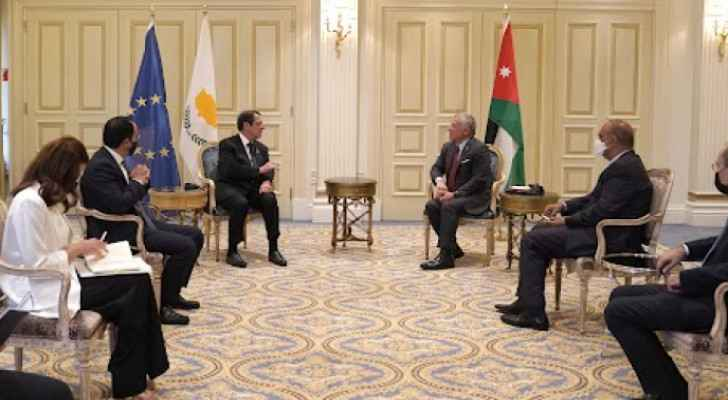 King meets Cypriot president