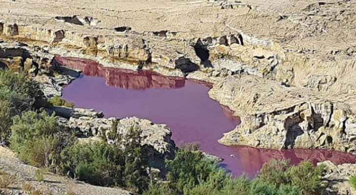 IMAGES: Pond turns red near Dead Sea, causes remain unknown