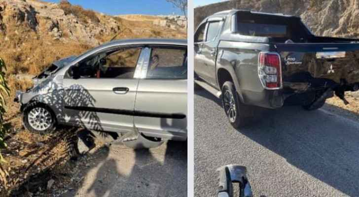 IMAGES: Three-vehicle collision occurs in Amman