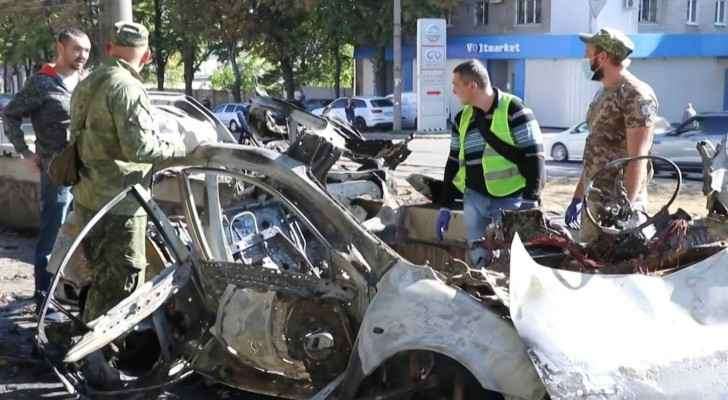 IMAGES: Official and activist killed in alleged car bomb blast in Ukraine