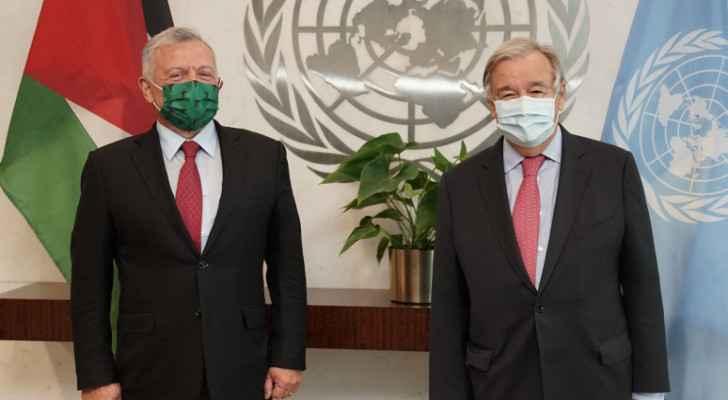 King meets UN secretary general