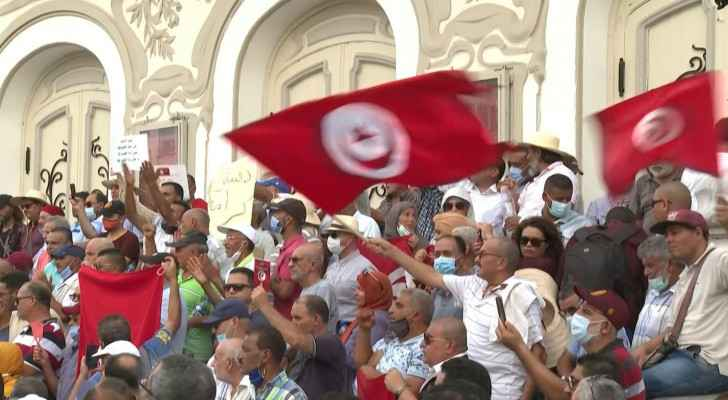 Tunisian protesters demand end to president's power grab