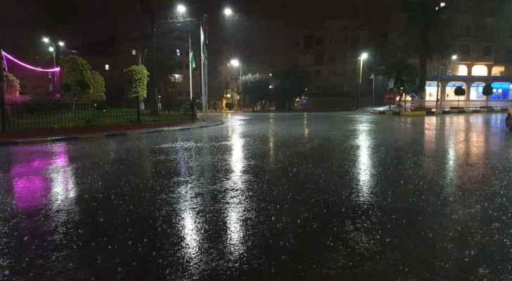 Jordan witnesses first rainfall of the season