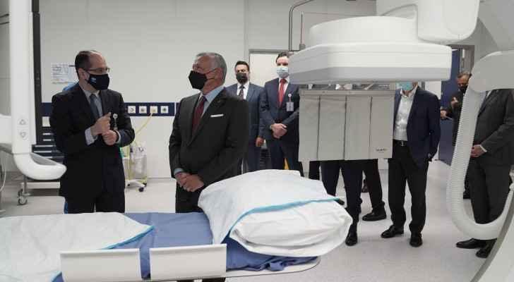 King Abdullah reaffirms good standing of medical sector