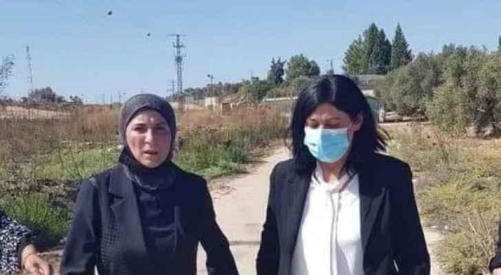 IMAGES: Khaleda Jarrar visits her daughter's grave following her release
