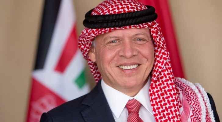 King arrives in Doha
